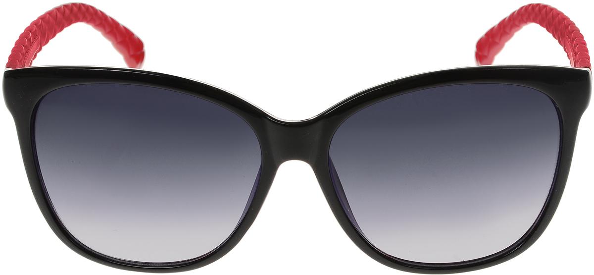 Очки солнцезащитные женские Vittorio Richi, цвет: черный, красный. ОС5024с80-10-2/17fОС5024с80-10-2/17fСолнцезащитные очки Vittorio Richi выполнены из высококачественного пластика. Пластик используемый при изготовлении линз не искажает изображение, не подвержен нагреванию и вредному воздействию солнечных лучей. Оправа очков легкая, прилегающей формы и поэтому обеспечивает максимальный комфорт. Такие очки защитят глаза от ультрафиолетовых лучей, подчеркнут вашу индивидуальность и сделают ваш образ завершенным.