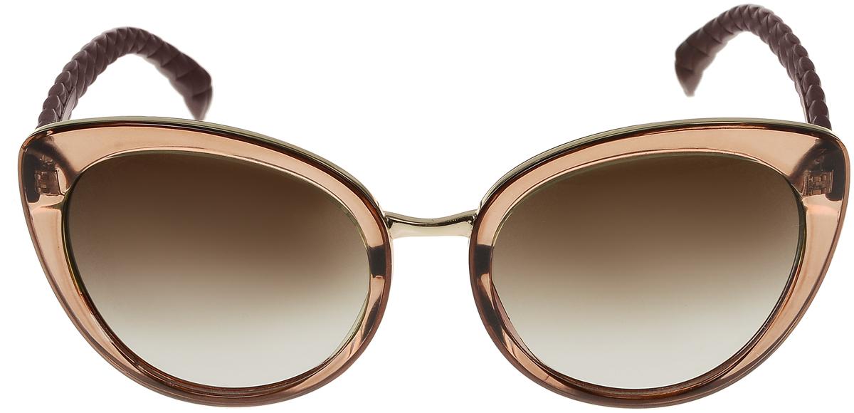 Очки солнцезащитные женские Vittorio Richi, цвет: коричневый. OC2035c82-23-9/17fOC2035c82-23-9/17fСолнцезащитные очки Vittorio Richi выполнены из высококачественного пластика и металла. Пластик используемый при изготовлении линз не искажает изображение, не подвержен нагреванию и вредному воздействию солнечных лучей. Оправа очков легкая, прилегающей формы и поэтому обеспечивает максимальный комфорт. Такие очки защитят глаза от ультрафиолетовых лучей, подчеркнут вашу индивидуальность и сделают ваш образ завершенным.