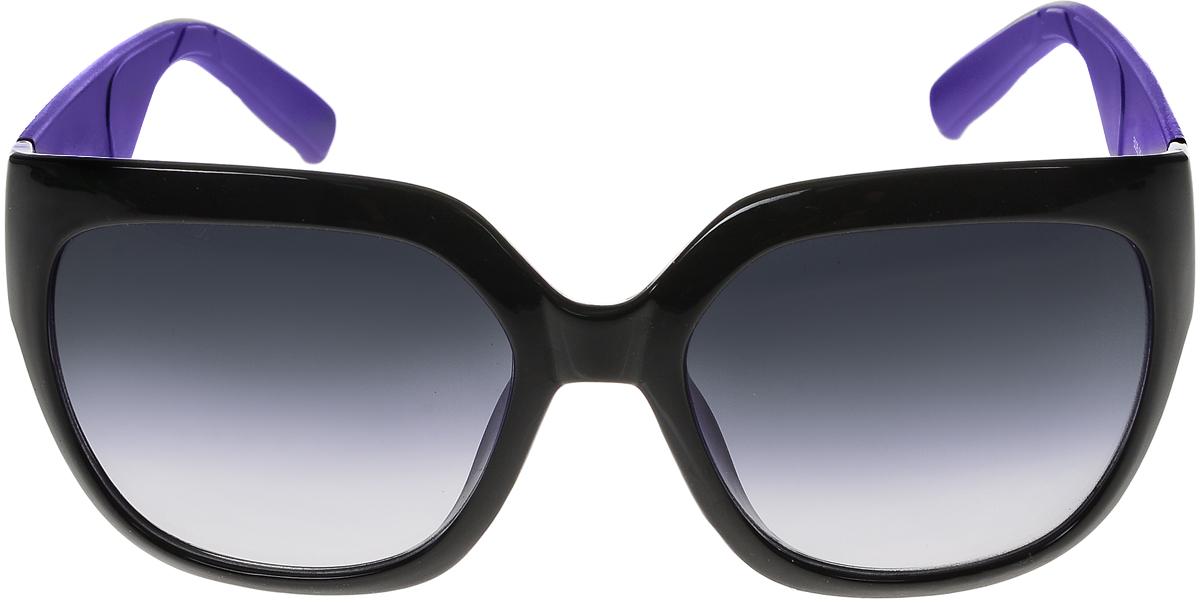 Очки солнцезащитные женские Vittorio Richi, цвет: фиолетовый, черный. ОС5025с80-10-10/17fОС5025с80-10-10/17fСолнцезащитные очки Vittorio Richi выполнены из высококачественного пластика. Пластик используемый при изготовлении линз не искажает изображение, не подвержен нагреванию и вредному воздействию солнечных лучей. Оправа очков легкая, прилегающей формы и поэтому обеспечивает максимальный комфорт. Такие очки защитят глаза от ультрафиолетовых лучей, подчеркнут вашу индивидуальность и сделают ваш образ завершенным.