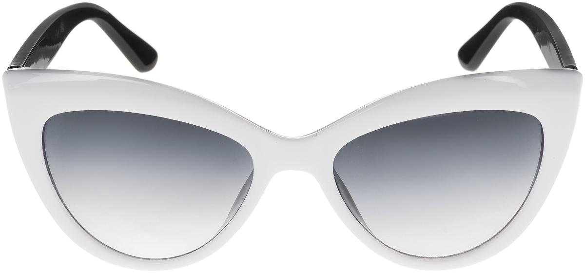 Очки солнцезащитные женские Vittorio Richi, цвет: белый, черный. ОС5013с80-27-4/17fОС5013с80-27-4/17fСолнцезащитные очки Vittorio Richi выполнены из высококачественного пластика. Пластик используемый при изготовлении линз не искажает изображение, не подвержен нагреванию и вредному воздействию солнечных лучей. Оправа очков легкая, прилегающей формы и поэтому обеспечивает максимальный комфорт. Такие очки защитят глаза от ультрафиолетовых лучей, подчеркнут вашу индивидуальность и сделают ваш образ завершенным.