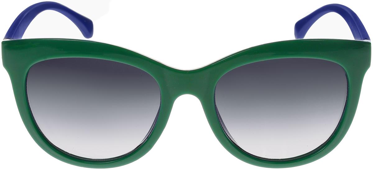 Очки солнцезащитные женские Vittorio Richi, цвет: зеленый, синий. ОС5108с80-39-18/17fОС5108с80-39-18/17fСолнцезащитные очки Vittorio Richi выполнены из высококачественного пластика. Пластик используемый при изготовлении линз не искажает изображение, не подвержен нагреванию и вредному воздействию солнечных лучей. Оправа очков легкая, прилегающей формы и поэтому обеспечивает максимальный комфорт. Такие очки защитят глаза от ультрафиолетовых лучей, подчеркнут вашу индивидуальность и сделают ваш образ завершенным.