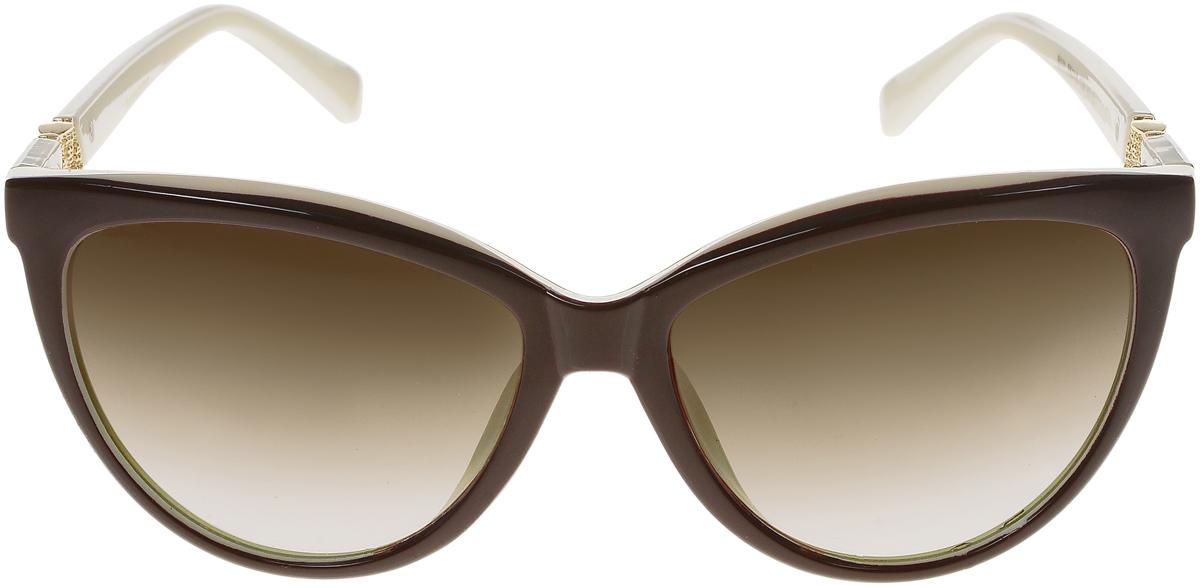 Очки солнцезащитные женские Vittorio Richi, цвет: коричневый, слоновая кость. OC5111c82-12/17fOC5111c82-12/17fСолнцезащитные очки Vittorio Richi выполнены из высококачественного пластика и металла. Пластик используемый при изготовлении линз не искажает изображение, не подвержен нагреванию и вредному воздействию солнечных лучей. Оправа очков легкая, прилегающей формы и поэтому обеспечивает максимальный комфорт. Такие очки защитят глаза от ультрафиолетовых лучей, подчеркнут вашу индивидуальность и сделают ваш образ завершенным.