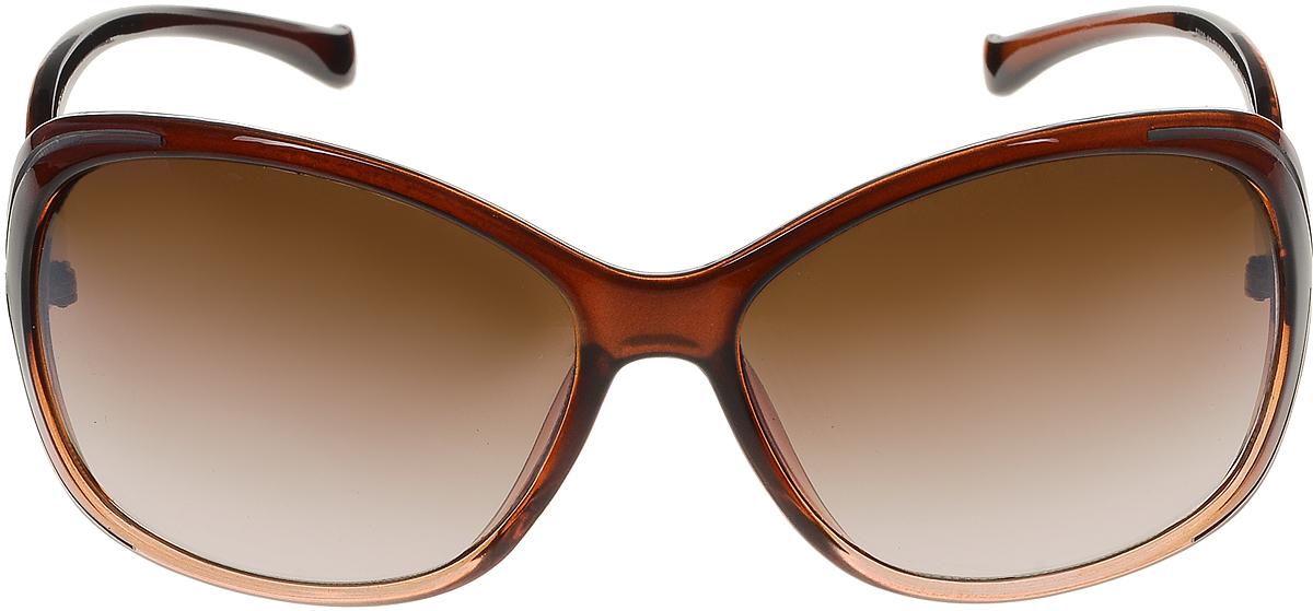 Очки солнцезащитные женские Vittorio Richi, цвет: коричневый. ОС5020с82-21/17fОС5020с82-21/17fСолнцезащитные очки Vittorio Richi выполнены из высококачественного пластика и металла. Пластик используемый при изготовлении линз не искажает изображение, не подвержен нагреванию и вредному воздействию солнечных лучей. Оправа очков легкая, прилегающей формы и поэтому обеспечивает максимальный комфорт. Такие очки защитят глаза от ультрафиолетовых лучей, подчеркнут вашу индивидуальность и сделают ваш образ завершенным.