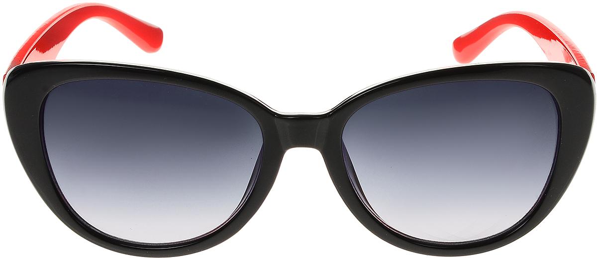 Очки солнцезащитные женские Vittorio Richi, цвет: черный, красный. ОС5109с80-10-20/17fОС5109с80-10-20/17fСолнцезащитные очки Vittorio Richi выполнены из высококачественного пластика. Пластик используемый при изготовлении линз не искажает изображение, не подвержен нагреванию и вредному воздействию солнечных лучей. Оправа очков легкая, прилегающей формы и поэтому обеспечивает максимальный комфорт. Такие очки защитят глаза от ультрафиолетовых лучей, подчеркнут вашу индивидуальность и сделают ваш образ завершенным.