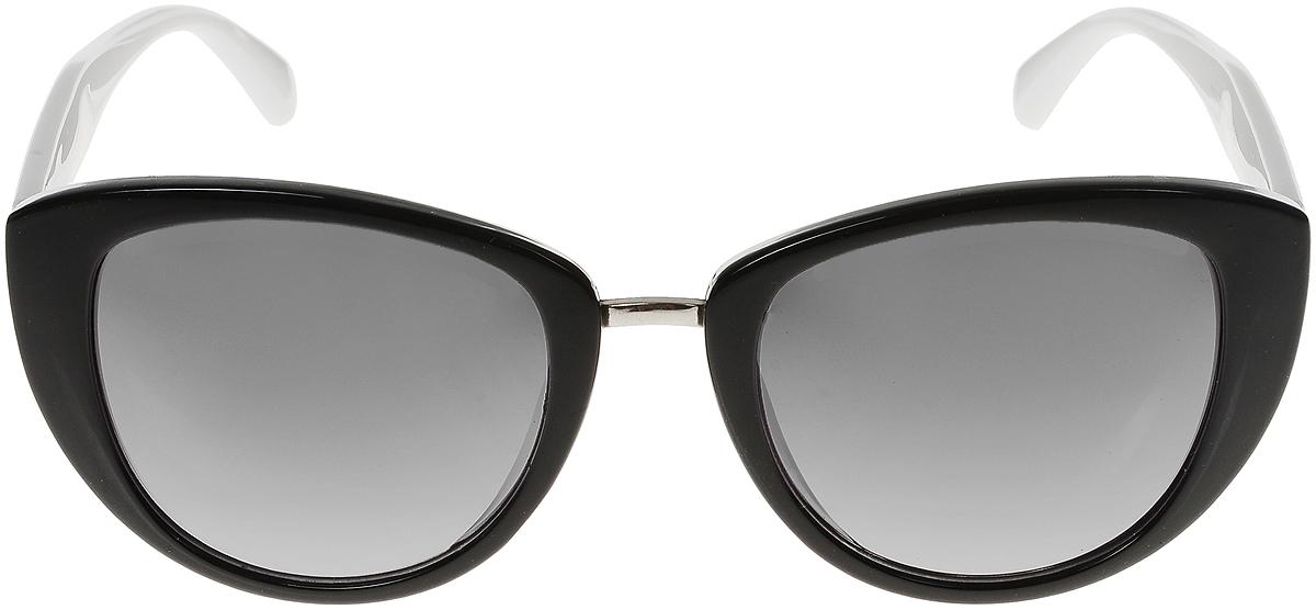 Очки солнцезащитные женские Vittorio Richi, цвет: черный, белый. OC8026с83-10-3/17fOC8026с83-10-3/17fСолнцезащитные очки Vittorio Richi выполнены из высококачественного пластика и металла. Пластик используемый при изготовлении линз не искажает изображение, не подвержен нагреванию и вредному воздействию солнечных лучей. Оправа очков легкая, прилегающей формы и поэтому обеспечивает максимальный комфорт. Такие очки защитят глаза от ультрафиолетовых лучей, подчеркнут вашу индивидуальность и сделают ваш образ завершенным.