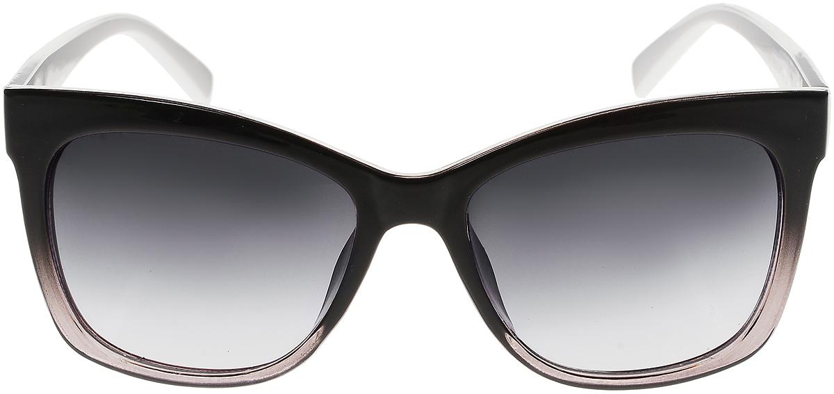 Очки солнцезащитные женские Vittorio Richi, цвет: черный, белый. ОС5011с80-22-3/17fОС5011с80-22-3/17fСолнцезащитные очки Vittorio Richi выполнены из высококачественного пластика и металла. Пластик используемый при изготовлении линз не искажает изображение, не подвержен нагреванию и вредному воздействию солнечных лучей. Оправа очков легкая, прилегающей формы и поэтому обеспечивает максимальный комфорт. Такие очки защитят глаза от ультрафиолетовых лучей, подчеркнут вашу индивидуальность и сделают ваш образ завершенным.