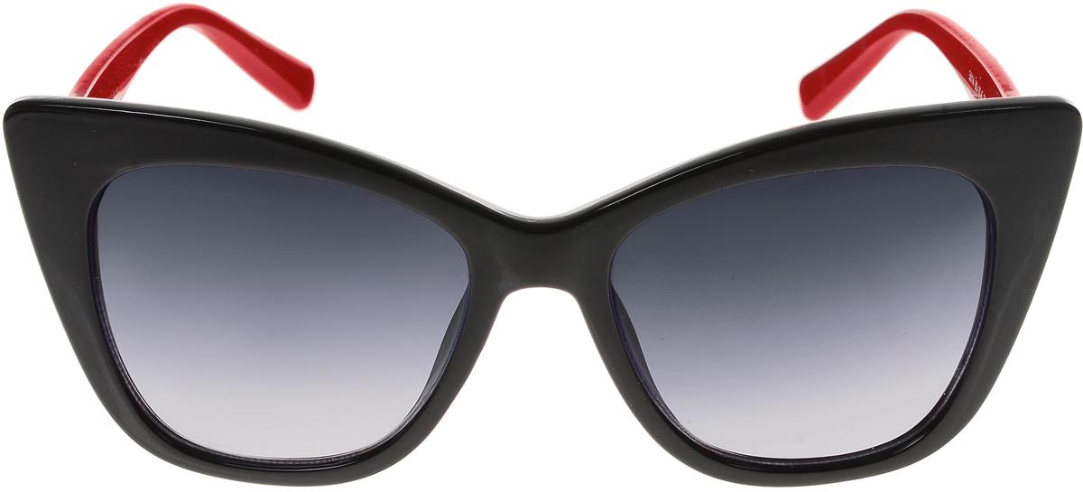 Очки солнцезащитные женские Vittorio Richi, цвет: черный, красный. ОС5014с80-10-6/17fОС5014с80-10-6/17fСолнцезащитные очки Vittorio Richi выполнены из высококачественного пластика. Пластик используемый при изготовлении линз не искажает изображение, не подвержен нагреванию и вредному воздействию солнечных лучей. Оправа очков легкая, прилегающей формы и поэтому обеспечивает максимальный комфорт. Такие очки защитят глаза от ультрафиолетовых лучей, подчеркнут вашу индивидуальность и сделают ваш образ завершенным.