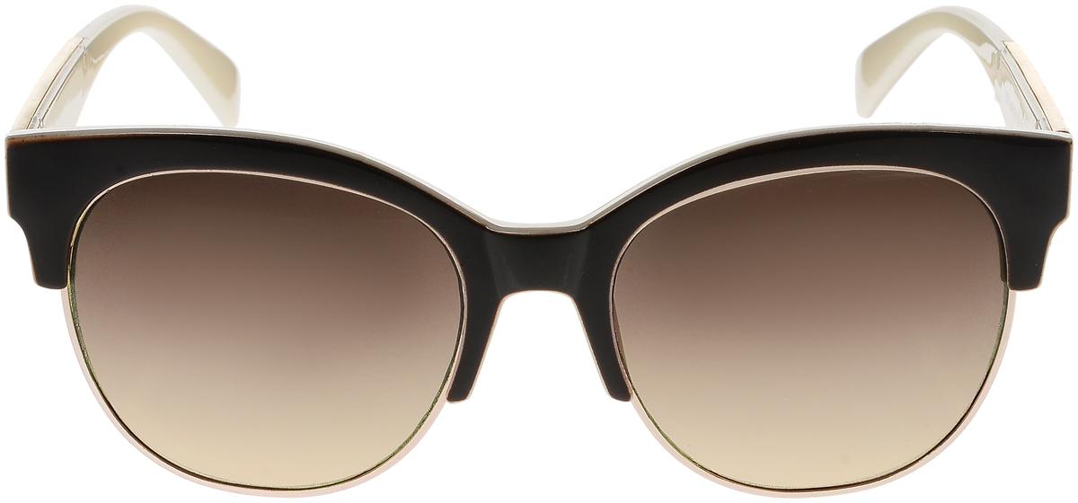 Очки солнцезащитные женские Vittorio Richi, цвет: коричневый, слоновая кость. OC1972с7/17fOC1972с7/17fСолнцезащитные очки Vittorio Richi выполнены из высококачественного пластика и металла. Пластик используемый при изготовлении линз не искажает изображение, не подвержен нагреванию и вредному воздействию солнечных лучей. Оправа очков легкая, прилегающей формы и поэтому обеспечивает максимальный комфорт. Такие очки защитят глаза от ультрафиолетовых лучей, подчеркнут вашу индивидуальность и сделают ваш образ завершенным.
