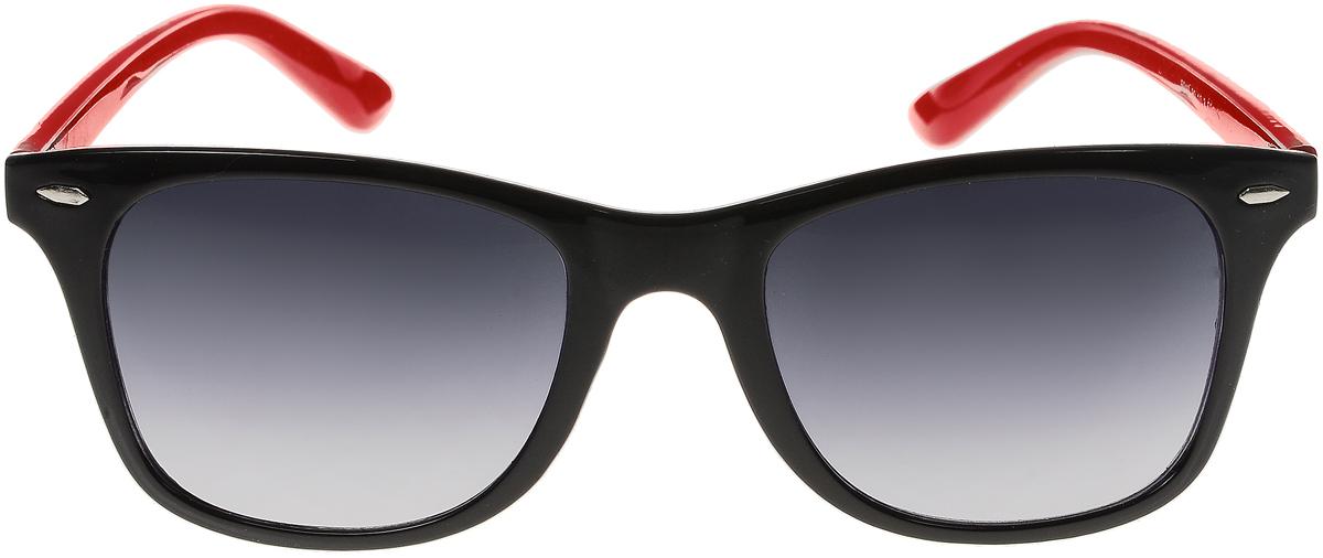 Очки солнцезащитные женские Vittorio Richi, цвет: черный, красный. ОС5019с80-10-3/17fОС5019с80-10-3/17fСолнцезащитные очки Vittorio Richi выполнены из высококачественного пластика. Пластик используемый при изготовлении линз не искажает изображение, не подвержен нагреванию и вредному воздействию солнечных лучей. Оправа очков легкая, прилегающей формы и поэтому обеспечивает максимальный комфорт. Такие очки защитят глаза от ультрафиолетовых лучей, подчеркнут вашу индивидуальность и сделают ваш образ завершенным.