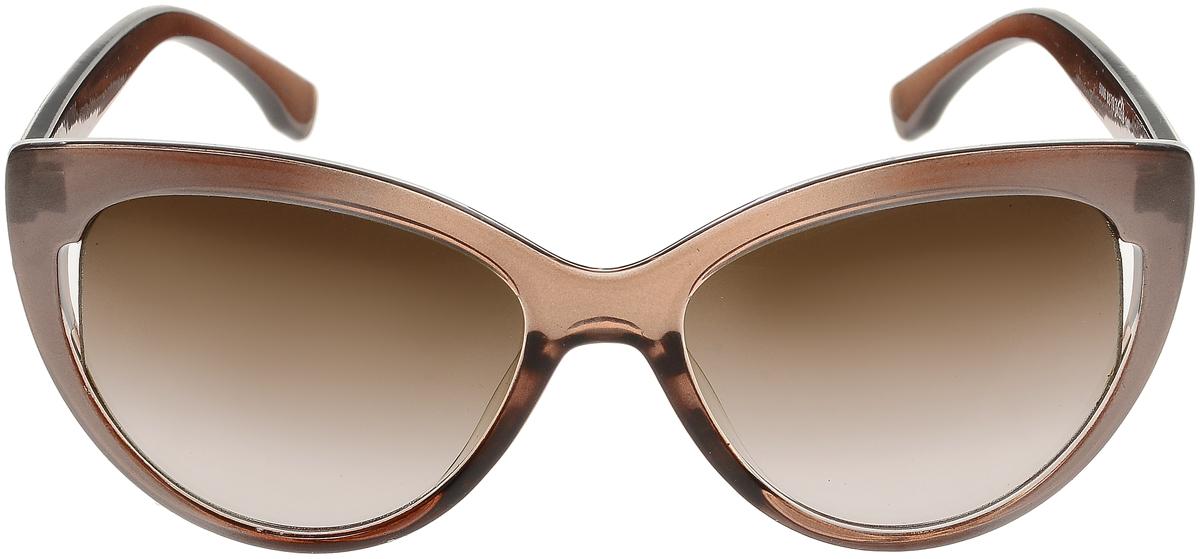 Очки солнцезащитные женские Vittorio Richi, цвет: темно-бежевый. ОС5006с82-19/17fОС5006с82-19/17fСолнцезащитные очки Vittorio Richi выполнены из высококачественного пластика. Пластик используемый при изготовлении линз не искажает изображение, не подвержен нагреванию и вредному воздействию солнечных лучей. Оправа очков легкая, прилегающей формы и поэтому обеспечивает максимальный комфорт. Такие очки защитят глаза от ультрафиолетовых лучей, подчеркнут вашу индивидуальность и сделают ваш образ завершенным.