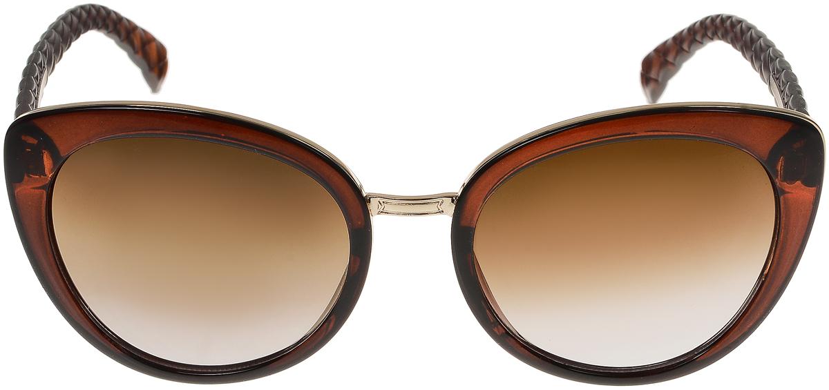 Очки солнцезащитные женские Vittorio Richi, цвет: коричневый. OC2071с81-11-1/17fOC2071с81-11-1/17fСолнцезащитные очки Vittorio Richi выполнены из высококачественного пластика. Пластик используемый при изготовлении линз не искажает изображение, не подвержен нагреванию и вредному воздействию солнечных лучей. Оправа очков легкая, прилегающей формы и поэтому обеспечивает максимальный комфорт. Такие очки защитят глаза от ультрафиолетовых лучей, подчеркнут вашу индивидуальность и сделают ваш образ завершенным.