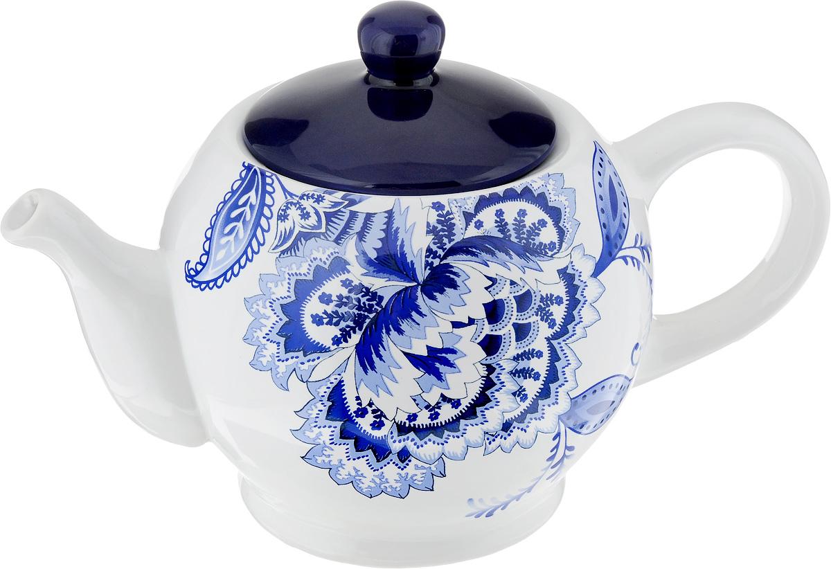 Чайник заварочный Loraine, 930 мл. 2482324823Заварочный чайник Loraine изготовлен из высококачественного доломита с глазурованным покрытием и оформлен оригинальным рисунком. Гладкая и идеально ровная поверхность обеспечивает легкую очистку. Чайник поможет заварить крепкий ароматный чай и великолепно украсит стол к чаепитию. Можно использовать в микроволновой печи и мыть в посудомоечной машине. Диаметр чайника (по верхнему краю): 7 см. Высота чайника (без учета крышки): 11 см.