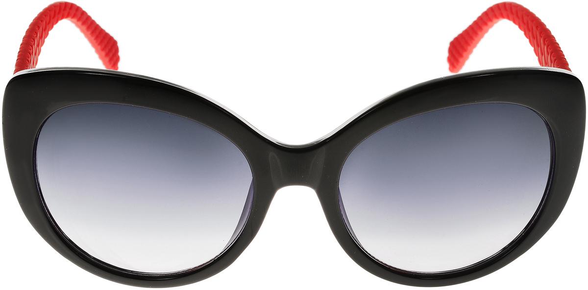 Очки солнцезащитные женские Vittorio Richi, цвет: черный, красный. ОС5110с80-10-2/17fОС5110с80-10-2/17fСолнцезащитные очки Vittorio Richi выполнены из высококачественного пластика. Пластик используемый при изготовлении линз не искажает изображение, не подвержен нагреванию и вредному воздействию солнечных лучей. Оправа очков легкая, прилегающей формы и поэтому обеспечивает максимальный комфорт. Такие очки защитят глаза от ультрафиолетовых лучей, подчеркнут вашу индивидуальность и сделают ваш образ завершенным.