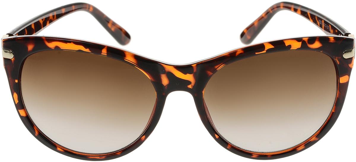 Очки солнцезащитные женские Vittorio Richi, цвет: коричневый. OC1922с3/17fOC1922с3/17fСолнцезащитные очки Vittorio Richi выполнены из высококачественного пластика и металла, декорированы стразами. Пластик используемый при изготовлении линз не искажает изображение, не подвержен нагреванию и вредному воздействию солнечных лучей. Оправа очков легкая, прилегающей формы и поэтому обеспечивает максимальный комфорт. Такие очки защитят глаза от ультрафиолетовых лучей, подчеркнут вашу индивидуальность и сделают ваш образ завершенным.