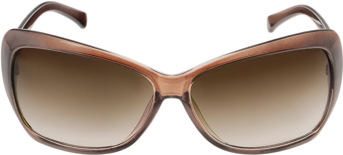 Очки солнцезащитные женские Vittorio Richi, цвет: коричневый. ОС5012с82-19/17fОС5012с82-19/17fСолнцезащитные очки Vittorio Richi выполнены из высококачественного пластика. Пластик используемый при изготовлении линз не искажает изображение, не подвержен нагреванию и вредному воздействию солнечных лучей. Оправа очков легкая, прилегающей формы и поэтому обеспечивает максимальный комфорт. Такие очки защитят глаза от ультрафиолетовых лучей, подчеркнут вашу индивидуальность и сделают ваш образ завершенным.