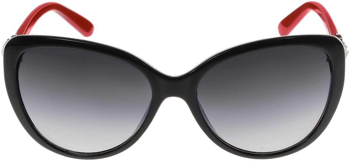 Очки солнцезащитные женские Vittorio Richi, цвет: черный, красный. ОС2062с80-10/17fОС2062с80-10/17fСолнцезащитные очки Vittorio Richi выполнены из высококачественного пластика. Пластик используемый при изготовлении линз не искажает изображение, не подвержен нагреванию и вредному воздействию солнечных лучей. Оправа очков легкая, прилегающей формы и поэтому обеспечивает максимальный комфорт. Такие очки защитят глаза от ультрафиолетовых лучей, подчеркнут вашу индивидуальность и сделают ваш образ завершенным.