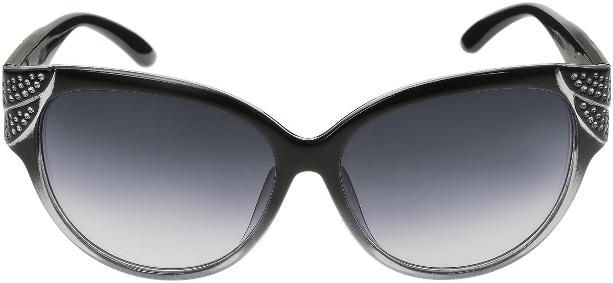 Очки солнцезащитные женские Vittorio Richi, цвет: черный. ОС5093с80-22/17fОС5093с80-22/17fСолнцезащитные очки Vittorio Richi выполнены из высококачественного пластика. Пластик используемый при изготовлении линз не искажает изображение, не подвержен нагреванию и вредному воздействию солнечных лучей. Оправа очков легкая, прилегающей формы и поэтому обеспечивает максимальный комфорт. Такие очки защитят глаза от ультрафиолетовых лучей, подчеркнут вашу индивидуальность и сделают ваш образ завершенным.