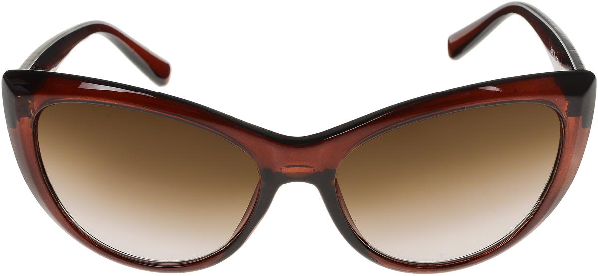 Очки солнцезащитные женские Vittorio Richi, цвет: коричневый. ОС5009с81-11/17fОС5009с81-11/17fСолнцезащитные очки Vittorio Richi выполнены из высококачественного пластика. Пластик используемый при изготовлении линз не искажает изображение, не подвержен нагреванию и вредному воздействию солнечных лучей. Оправа очков легкая, прилегающей формы и поэтому обеспечивает максимальный комфорт. Такие очки защитят глаза от ультрафиолетовых лучей, подчеркнут вашу индивидуальность и сделают ваш образ завершенным.