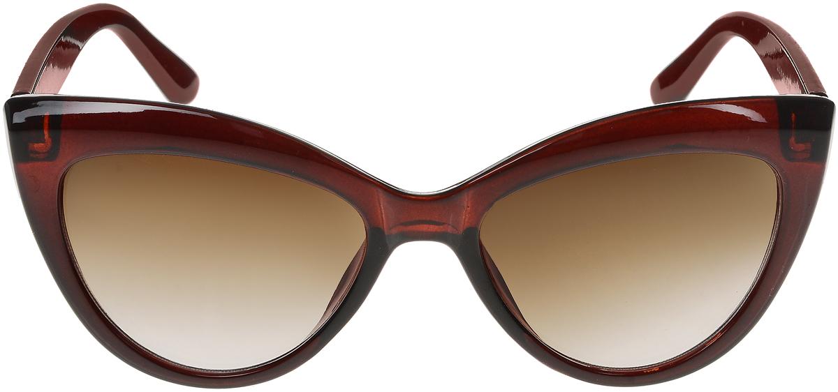 Очки солнцезащитные женские Vittorio Richi, цвет: коричневый. ОС5013с81-11/17fОС5013с81-11/17fСолнцезащитные очки Vittorio Richi выполнены из высококачественного пластика. Пластик используемый при изготовлении линз не искажает изображение, не подвержен нагреванию и вредному воздействию солнечных лучей. Оправа очков легкая, прилегающей формы и поэтому обеспечивает максимальный комфорт. Такие очки защитят глаза от ультрафиолетовых лучей, подчеркнут вашу индивидуальность и сделают ваш образ завершенным.