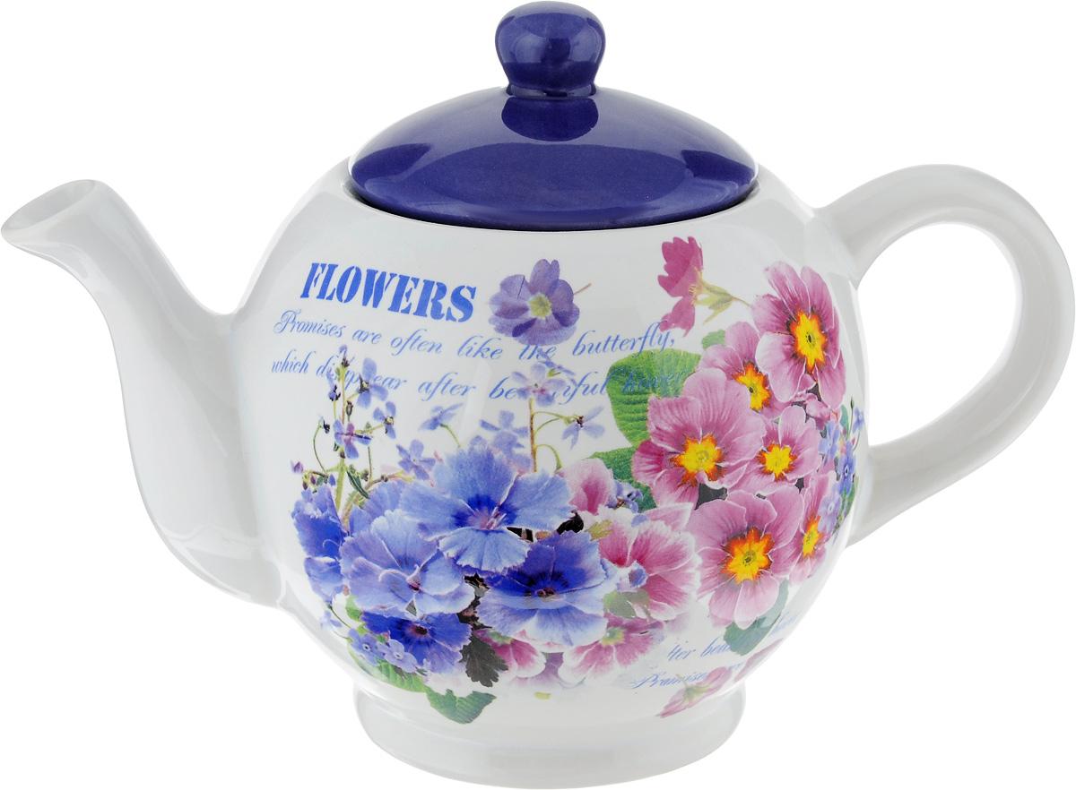 Чайник заварочный Loraine, 1 л. 2375823758Заварочный чайник Loraine изготовлен из высококачественной керамики. Глазурованное покрытие обеспечивает легкую очистку. Изделие прекрасно подходит для заваривания вкусного и ароматного чая, а также травяных настоев. Отверстия в основании носика препятствует попаданию чаинок в чашку. Оригинальный дизайн сделает чайник настоящим украшением стола. Он удобен в использовании и понравится каждому. Можно мыть в посудомоечной машине и использовать в микроволновой печи. Диаметр чайника (по верхнему краю): 7,5 см. Высота чайника (без учета крышки): 11,5 см. Высота чайника (с учетом крышки): 16 см.