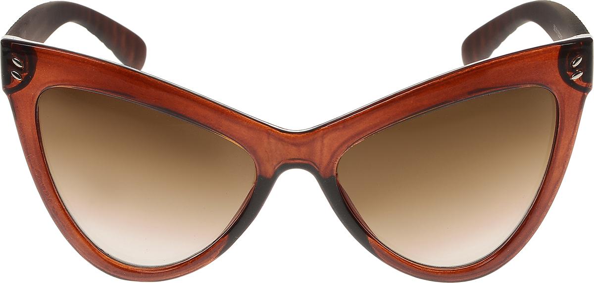 Очки солнцезащитные женские Vittorio Richi, цвет: коричневый. ОС5063с81-11/17fОС5063с81-11/17fСолнцезащитные очки Vittorio Richi выполнены из высококачественного пластика и металла. Пластик используемый при изготовлении линз не искажает изображение, не подвержен нагреванию и вредному воздействию солнечных лучей. Оправа очков легкая, прилегающей формы и поэтому обеспечивает максимальный комфорт. Такие очки защитят глаза от ультрафиолетовых лучей, подчеркнут вашу индивидуальность и сделают ваш образ завершенным.