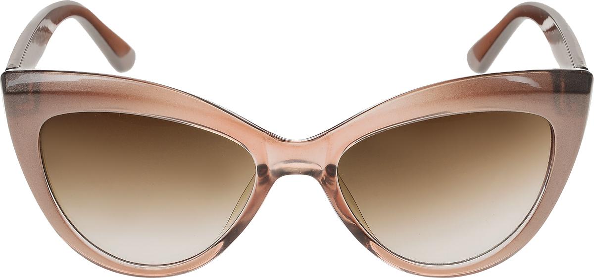 Очки солнцезащитные женские Vittorio Richi, цвет: коричневый. ОС5013с82-19/17fОС5013с82-19/17fСолнцезащитные очки Vittorio Richi выполнены из высококачественного пластика. Пластик используемый при изготовлении линз не искажает изображение, не подвержен нагреванию и вредному воздействию солнечных лучей. Оправа очков легкая, прилегающей формы и поэтому обеспечивает максимальный комфорт. Такие очки защитят глаза от ультрафиолетовых лучей, подчеркнут вашу индивидуальность и сделают ваш образ завершенным.