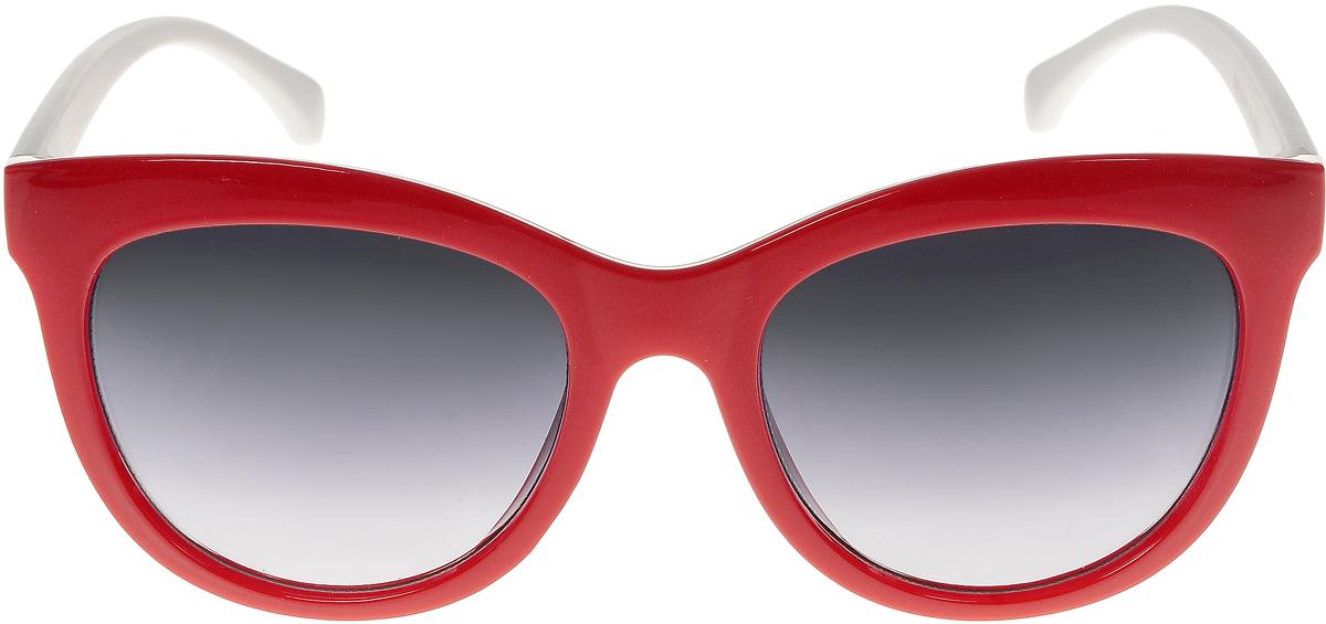 Очки солнцезащитные женские Vittorio Richi, цвет: красный, белый. ОС5108с80-28-3/17fОС5108с80-28-3/17fСолнцезащитные очки Vittorio Richi выполнены из высококачественного пластика. Пластик используемый при изготовлении линз не искажает изображение, не подвержен нагреванию и вредному воздействию солнечных лучей. Оправа очков легкая, прилегающей формы и поэтому обеспечивает максимальный комфорт. Такие очки защитят глаза от ультрафиолетовых лучей, подчеркнут вашу индивидуальность и сделают ваш образ завершенным.