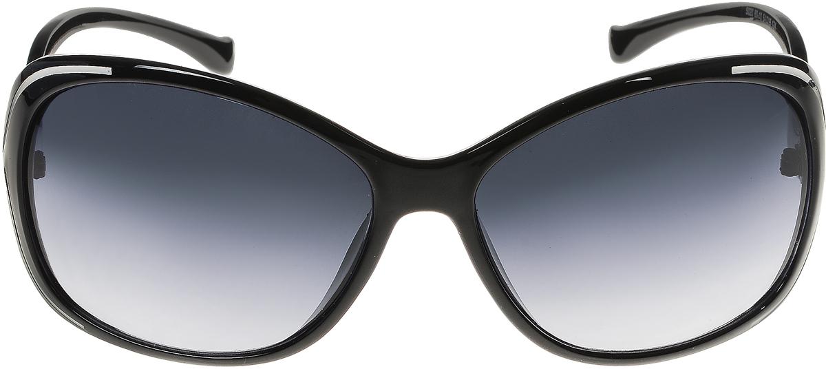 Очки солнцезащитные женские Vittorio Richi, цвет: черный, белый. ОС5020с80-10/17fОС5020с80-10/17fЭлегантные солнцезащитные очки Vittorio Richi выполнены из высококачественного пластика и металла. Пластик используемый при изготовлении линз не искажает изображение, не подвержен нагреванию и вредному воздействию солнечных лучей. Оправа очков легкая, прилегающей формы и поэтому обеспечивает максимальный комфорт. Такие очки защитят глаза от ультрафиолетовых лучей, подчеркнут вашу индивидуальность и сделают ваш образ завершенным.