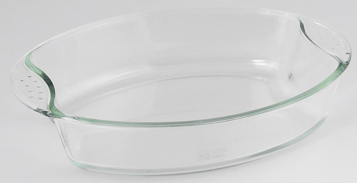 Жаровня Loraine, 2 л20668Овальная жаровня Loraine изготовлена из жаропрочного боросиликатного прозрачного стекла. Стеклянная посуда идеальна для запекания, так как стекло - это экологически чистый, износостойкий и долговечный материал, к которому не прилипает пища, в такой посуде пища сохраняет все свои полезные вещества и микроэлементы. Емкость идеальна для запекания в духовке птицы и мяса, для приготовления лазаньи, запеканки и даже пирогов. С жаровней Loraine вы всегда сможете порадовать своих близких оригинальной выпечкой. Подходит для использования в духовке при температуре до +400°С, в морозильной камере при температуре до -40°С. Можно использовать в микроволновой печи. Подходит для мытья в посудомоечной машине. Объем: 2 л. Размер жаровни (с учетом ручек): 30 см х 21,5 см. Высота стенки: 6 см.