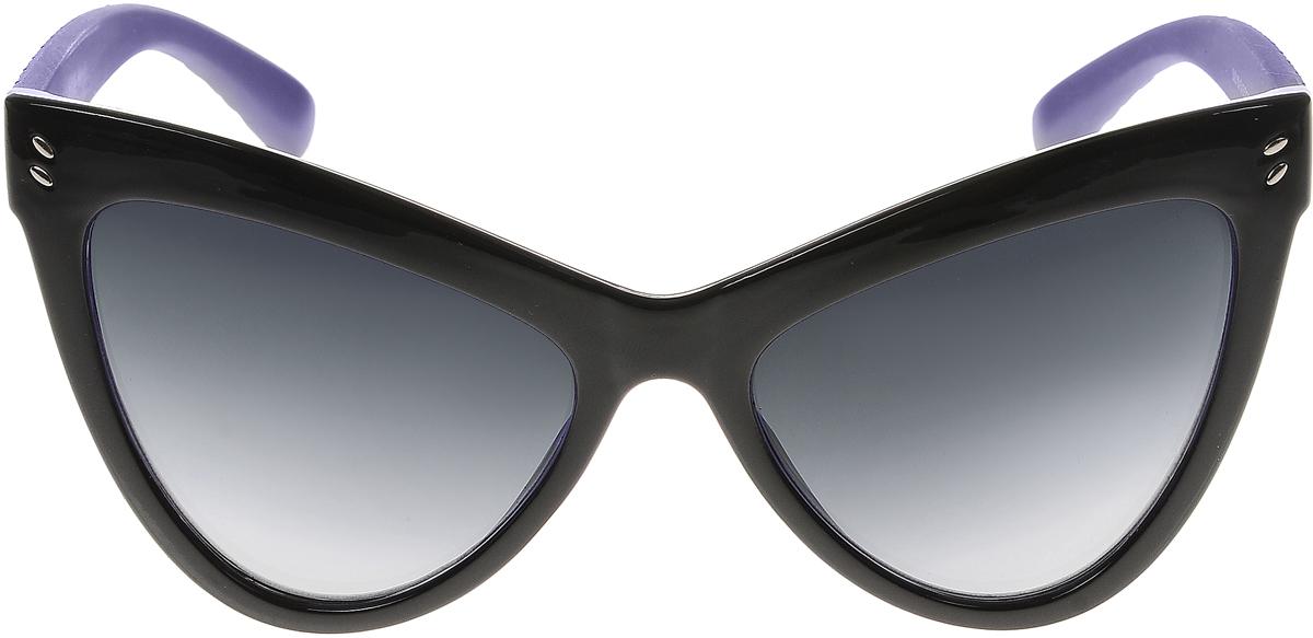 Очки солнцезащитные женские Vittorio Richi, цвет: фиолетовый, черный. ОС5063с80-10-18/17fОС5063с80-10-18/17fСолнцезащитные очки Vittorio Richi выполнены из высококачественного пластика и металла. Пластик используемый при изготовлении линз не искажает изображение, не подвержен нагреванию и вредному воздействию солнечных лучей. Оправа очков легкая, прилегающей формы и поэтому обеспечивает максимальный комфорт. Такие очки защитят глаза от ультрафиолетовых лучей, подчеркнут вашу индивидуальность и сделают ваш образ завершенным.