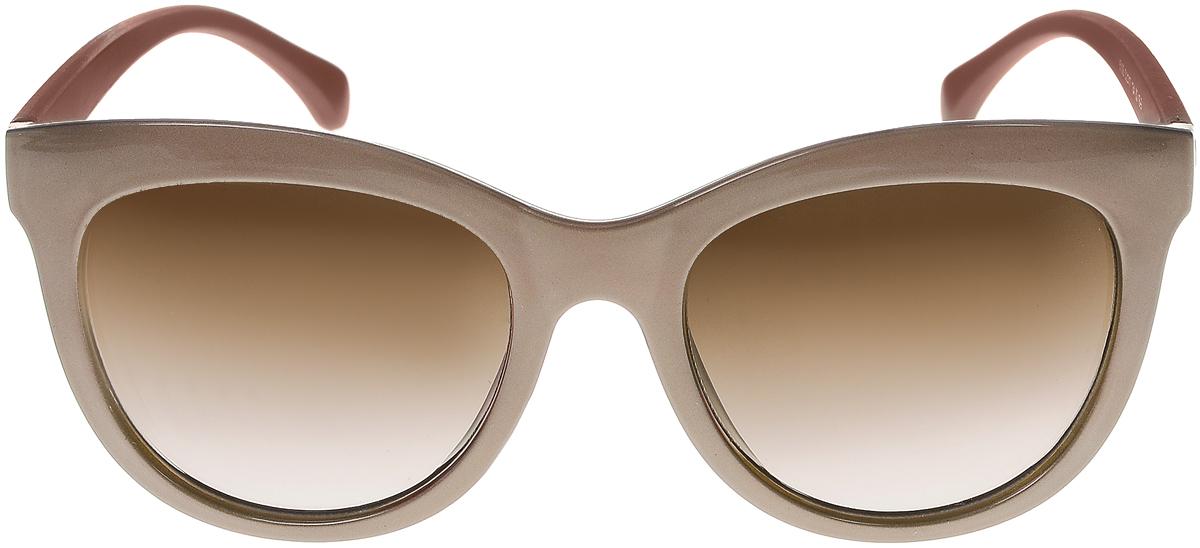 Очки солнцезащитные женские Vittorio Richi, цвет: темно-бежевый. ОС5108с82-16-9/17fОС5108с82-16-9/17fСолнцезащитные очки Vittorio Richi выполнены из высококачественного пластика. Пластик используемый при изготовлении линз не искажает изображение, не подвержен нагреванию и вредному воздействию солнечных лучей. Оправа очков легкая, прилегающей формы и поэтому обеспечивает максимальный комфорт. Такие очки защитят глаза от ультрафиолетовых лучей, подчеркнут вашу индивидуальность и сделают ваш образ завершенным.