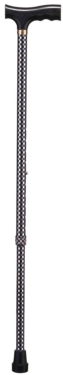 B.Well Трость WR-411 шахматыWR-411WR-411 – это классическая опорная трость по доступной цене. Рукоятка трости имеет Т-образную форму, сделана из прочного нескользящего пластика. Корпус трости выполнен из авиационного алюминия, что обеспечивает и прочность, и легкость. Все трости B.Well являются телескопическими и регулируются по высоте. Кнопочный замок надежно зафиксирует трость на том уровне, который удобен и комфортен для Вас. Трехслойное покрытие корпуса трости обеспечит долговечность выбранного Вами рисунка.
