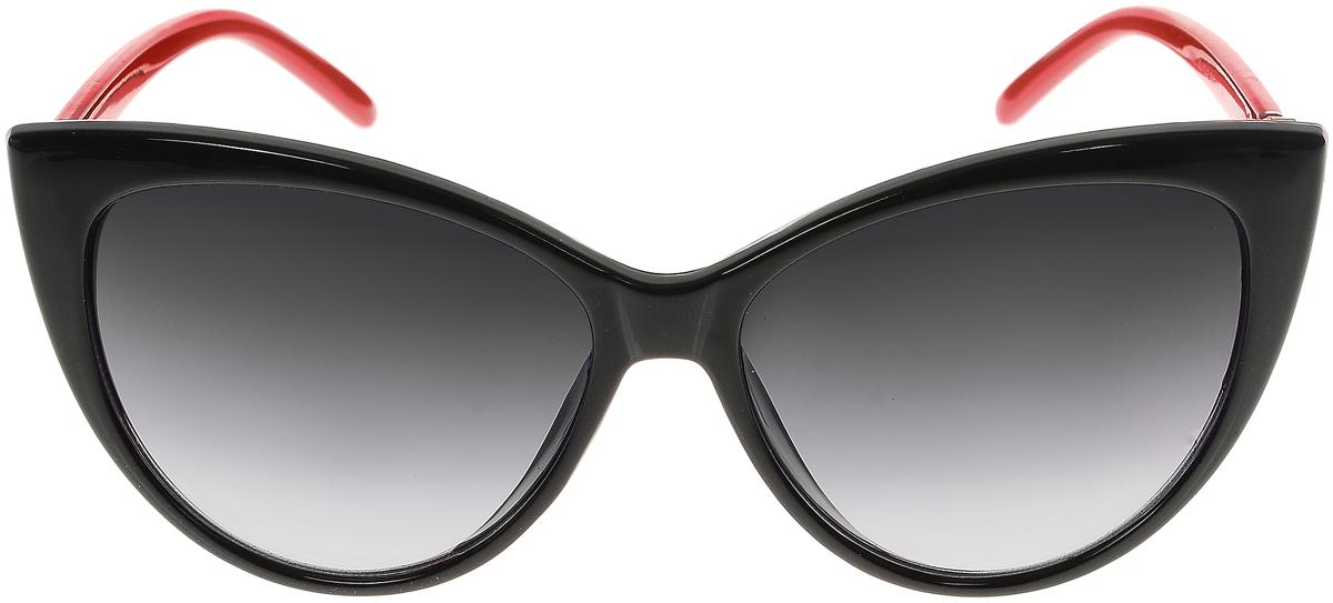 Очки солнцезащитные женские Vittorio Richi, цвет: черный, красный. OC2050с80-10-2/17fOC2050с80-10-2/17fСолнцезащитные очки Vittorio Richi выполнены из высококачественного пластика и металла, декорировано стразами. Пластик используемый при изготовлении линз не искажает изображение, не подвержен нагреванию и вредному воздействию солнечных лучей. Оправа очков легкая, прилегающей формы и поэтому обеспечивает максимальный комфорт. Такие очки защитят глаза от ультрафиолетовых лучей, подчеркнут вашу индивидуальность и сделают ваш образ завершенным.