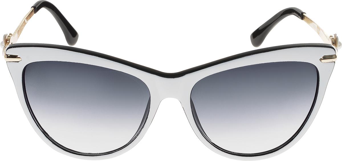 Очки солнцезащитные женские Vittorio Richi, цвет: белый, черный. ОС1636с5/17fОС1636с5/17fСолнцезащитные очки Vittorio Richi выполнены из высококачественного пластика и металла. Пластик используемый при изготовлении линз не искажает изображение, не подвержен нагреванию и вредному воздействию солнечных лучей. Оправа очков легкая, прилегающей формы и поэтому обеспечивает максимальный комфорт. Такие очки защитят глаза от ультрафиолетовых лучей, подчеркнут вашу индивидуальность и сделают ваш образ завершенным.