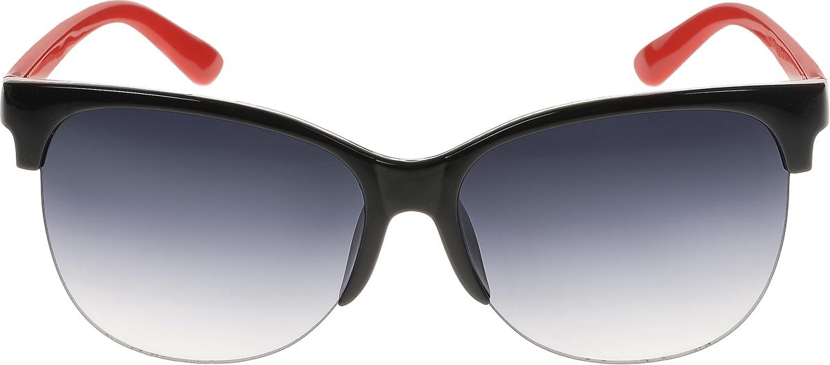Очки солнцезащитные женские Vittorio Richi, цвет: черный, красный. ОС5001с80-10-2/17fОС5001с80-10-2/17fСолнцезащитные очки Vittorio Richi выполнены из высококачественного пластика. Пластик используемый при изготовлении линз не искажает изображение, не подвержен нагреванию и вредному воздействию солнечных лучей. Оправа очков легкая, прилегающей формы и поэтому обеспечивает максимальный комфорт. Такие очки защитят глаза от ультрафиолетовых лучей, подчеркнут вашу индивидуальность и сделают ваш образ завершенным.