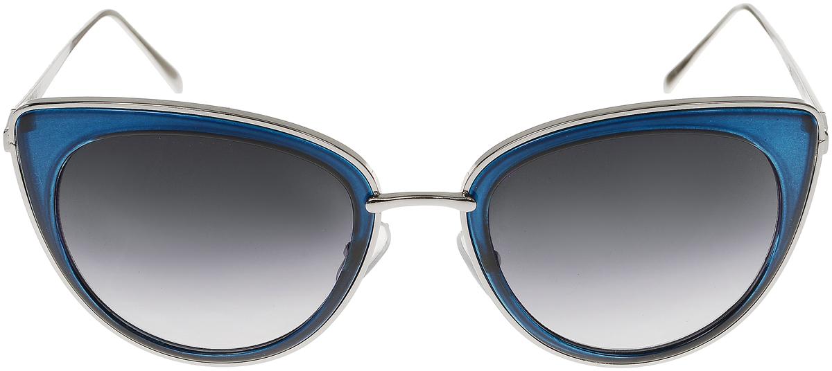 Очки солнцезащитные женские Vittorio Richi, цвет: синий, серебристый. OC8001c80-15/17fOC8001c80-15/17fСолнцезащитные очки Vittorio Richi выполнены из высококачественного пластика и металла. Пластик используемый при изготовлении линз не искажает изображение, не подвержен нагреванию и вредному воздействию солнечных лучей. Оправа очков легкая, прилегающей формы и поэтому обеспечивает максимальный комфорт. Такие очки защитят глаза от ультрафиолетовых лучей, подчеркнут вашу индивидуальность и сделают ваш образ завершенным.