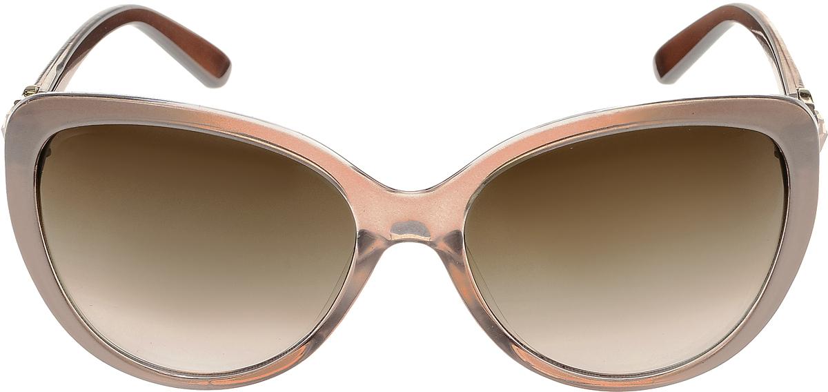 Очки солнцезащитные женские Vittorio Richi, цвет: серый, коричневый. ОС2062с82-19/17fОС2062с82-19/17fЭлегантные солнцезащитные очки Vittorio Richi выполнены из высококачественного пластика и металла, декорированы стразами. Пластик используемый при изготовлении линз не искажает изображение, не подвержен нагреванию и вредному воздействию солнечных лучей. Оправа очков легкая, прилегающей формы и поэтому обеспечивает максимальный комфорт. Такие очки защитят глаза от ультрафиолетовых лучей, подчеркнут вашу индивидуальность и сделают ваш образ завершенным.