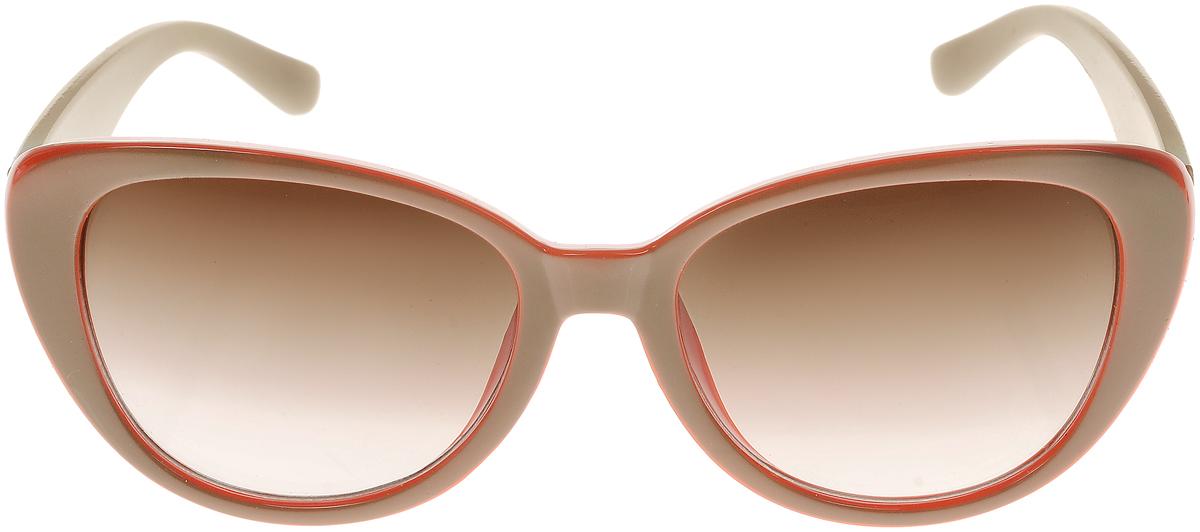 Очки солнцезащитные женские Vittorio Richi, цвет: оранжевый, бежевый. ОС5109с82-44-9/17fОС5109с82-44-9/17fСолнцезащитные очки Vittorio Richi выполнены из высококачественного пластика. Пластик используемый при изготовлении линз не искажает изображение, не подвержен нагреванию и вредному воздействию солнечных лучей. Оправа очков легкая, прилегающей формы и поэтому обеспечивает максимальный комфорт. Такие очки защитят глаза от ультрафиолетовых лучей, подчеркнут вашу индивидуальность и сделают ваш образ завершенным.