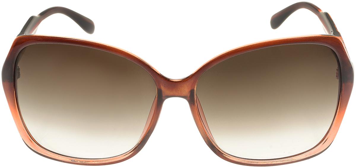 Очки солнцезащитные женские Vittorio Richi, цвет: коричневый. ОС5017с82-21/17fОС5017с82-21/17fСолнцезащитные очки Vittorio Richi выполнены из высококачественного пластика. Пластик используемый при изготовлении линз не искажает изображение, не подвержен нагреванию и вредному воздействию солнечных лучей. Оправа очков легкая, прилегающей формы и поэтому обеспечивает максимальный комфорт. Такие очки защитят глаза от ультрафиолетовых лучей, подчеркнут вашу индивидуальность и сделают ваш образ завершенным.
