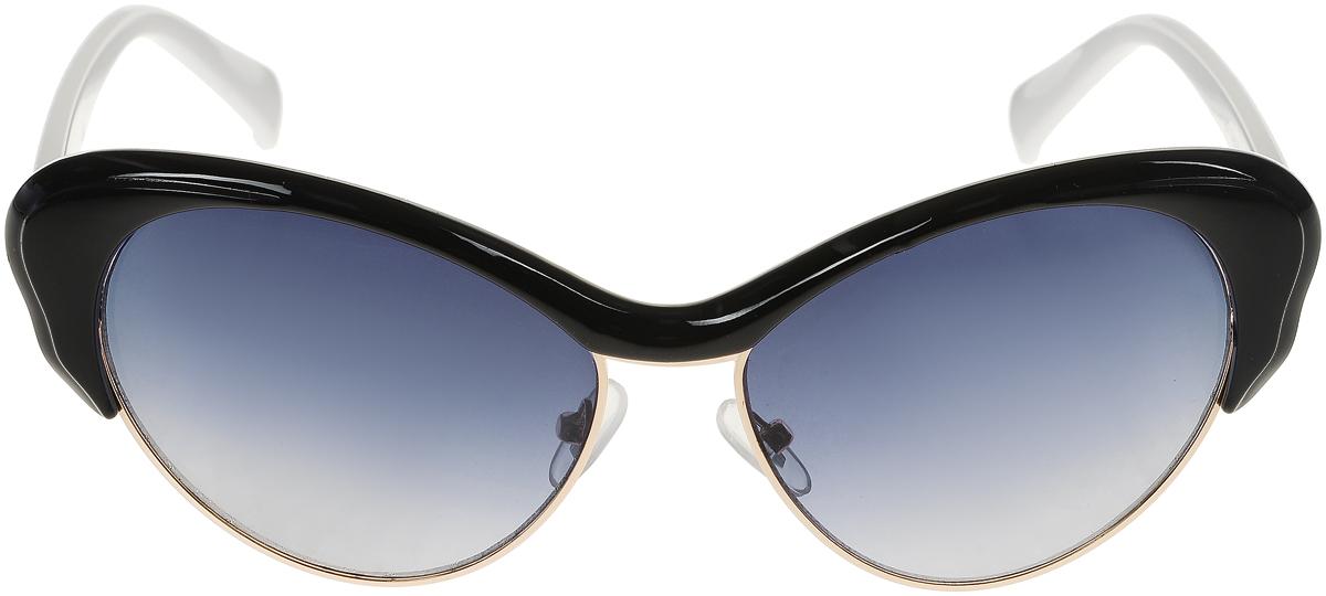Очки солнцезащитные женские Vittorio Richi, цвет: черный, белый. OC1971с6/17fOC1971с6/17fСолнцезащитные очки Vittorio Richi выполнены из высококачественного пластика и металла. Пластик используемый при изготовлении линз не искажает изображение, не подвержен нагреванию и вредному воздействию солнечных лучей. Оправа очков легкая, прилегающей формы и поэтому обеспечивает максимальный комфорт. Такие очки защитят глаза от ультрафиолетовых лучей, подчеркнут вашу индивидуальность и сделают ваш образ завершенным.