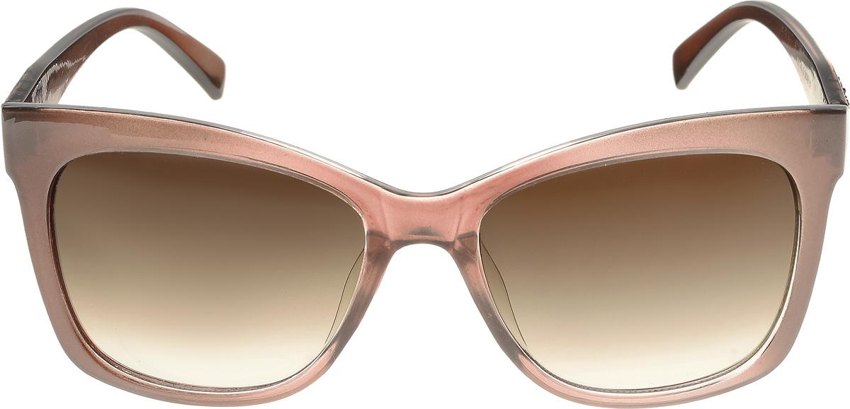 Очки солнцезащитные женские Vittorio Richi, цвет: коричневый. ОС5011с82-19/17fОС5011с82-19/17fЭлегантные солнцезащитные очки Vittorio Richi выполнены из высококачественного пластика и металла. Пластик используемый при изготовлении линз не искажает изображение, не подвержен нагреванию и вредному воздействию солнечных лучей. Оправа очков легкая, прилегающей формы и поэтому обеспечивает максимальный комфорт. Такие очки защитят глаза от ультрафиолетовых лучей, подчеркнут вашу индивидуальность и сделают ваш образ завершенным.