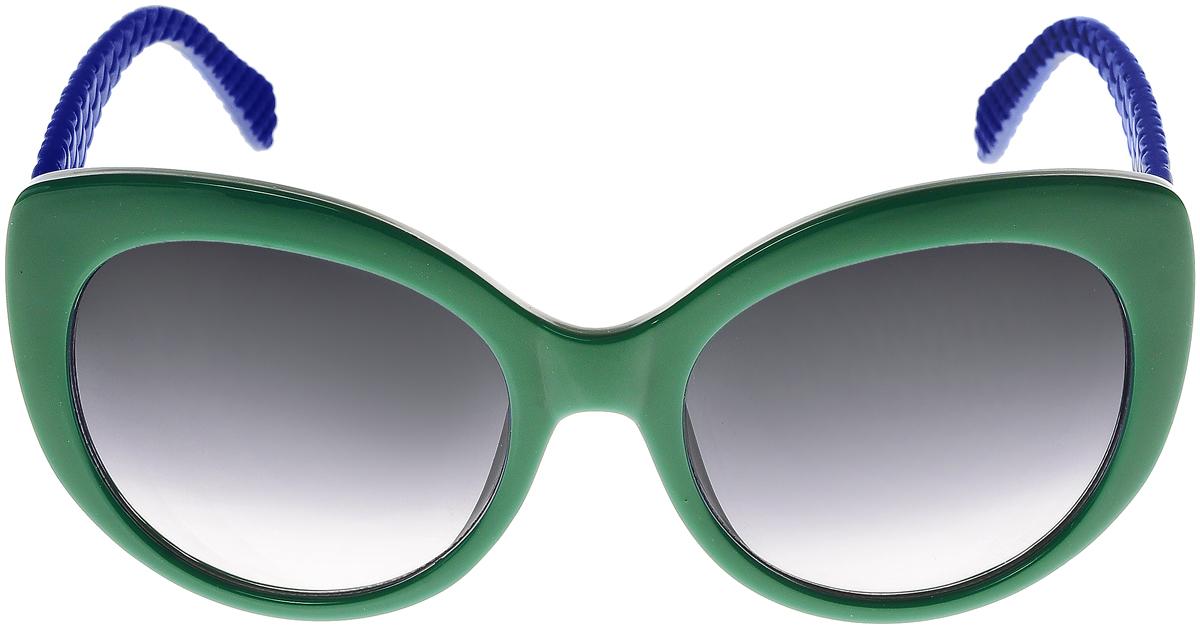 Очки солнцезащитные женские Vittorio Richi, цвет: зеленый, синий. ОС5110с80-39-18/17fОС5110с80-39-18/17fСолнцезащитные очки Vittorio Richi выполнены из высококачественного пластика. Пластик используемый при изготовлении линз не искажает изображение, не подвержен нагреванию и вредному воздействию солнечных лучей. Оправа очков легкая, прилегающей формы и поэтому обеспечивает максимальный комфорт. Такие очки защитят глаза от ультрафиолетовых лучей, подчеркнут вашу индивидуальность и сделают ваш образ завершенным.