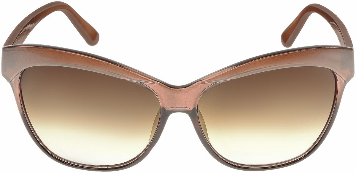 Очки солнцезащитные женские Vittorio Richi, цвет: коричневый. ОС1632с3/17fОС1632с3/17fСолнцезащитные очки Vittorio Richi выполнены из высококачественного пластика. Пластик используемый при изготовлении линз не искажает изображение, не подвержен нагреванию и вредному воздействию солнечных лучей. Оправа очков легкая, прилегающей формы и поэтому обеспечивает максимальный комфорт. Такие очки защитят глаза от ультрафиолетовых лучей, подчеркнут вашу индивидуальность и сделают ваш образ завершенным.