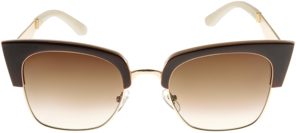 Очки солнцезащитные женские Vittorio Richi, цвет: коричневый, слоновая кость. OC1901c4/17fOC1901c4/17fСолнцезащитные очки Vittorio Richi выполнены из высококачественного пластика и металла. Пластик используемый при изготовлении линз не искажает изображение, не подвержен нагреванию и вредному воздействию солнечных лучей. Оправа очков легкая, прилегающей формы и поэтому обеспечивает максимальный комфорт. Такие очки защитят глаза от ультрафиолетовых лучей, подчеркнут вашу индивидуальность и сделают ваш образ завершенным.