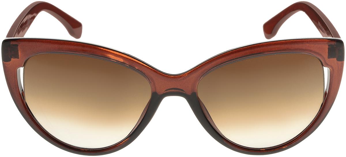 Очки солнцезащитные женские Vittorio Richi, цвет: коричневый. ОС5006с81-11/17fОС5006с81-11/17fСолнцезащитные очки Vittorio Richi выполнены из высококачественного пластика. Пластик используемый при изготовлении линз не искажает изображение, не подвержен нагреванию и вредному воздействию солнечных лучей. Оправа очков легкая, прилегающей формы и поэтому обеспечивает максимальный комфорт. Такие очки защитят глаза от ультрафиолетовых лучей, подчеркнут вашу индивидуальность и сделают ваш образ завершенным.