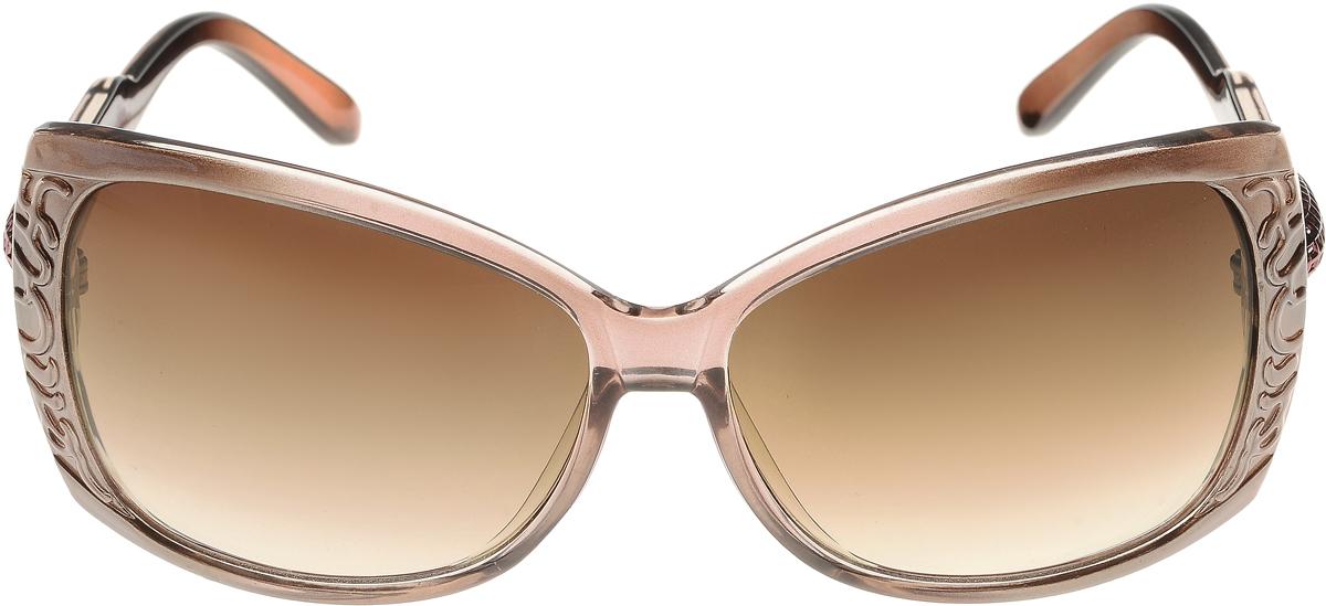 Очки солнцезащитные женские Vittorio Richi, цвет: коричневый. ОС5023с82-19/17fОС5023с82-19/17fЭлегантные солнцезащитные очки Vittorio Richi выполнены из высококачественного пластика. Пластик используемый при изготовлении линз не искажает изображение, не подвержен нагреванию и вредному воздействию солнечных лучей. Оправа очков легкая, прилегающей формы и поэтому обеспечивает максимальный комфорт. Такие очки защитят глаза от ультрафиолетовых лучей, подчеркнут вашу индивидуальность и сделают ваш образ завершенным.