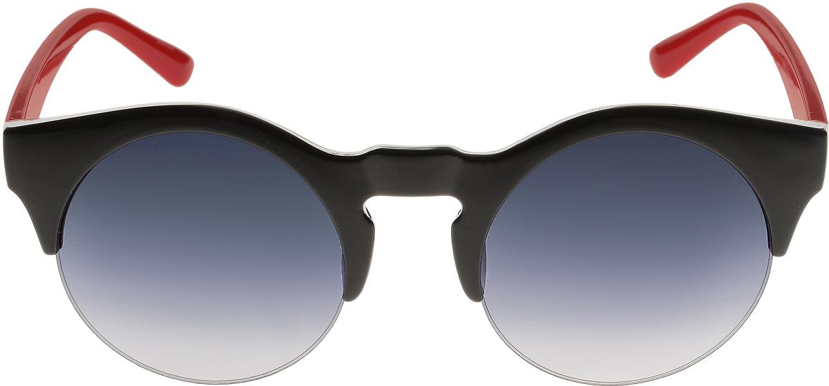 Очки солнцезащитные женские Vittorio Richi, цвет: черный, красный. ОС4260с4/17fОС4260с4/17fСолнцезащитные очки Vittorio Richi выполнены из высококачественного пластика. Пластик используемый при изготовлении линз не искажает изображение, не подвержен нагреванию и вредному воздействию солнечных лучей. Оправа очков легкая, прилегающей формы и поэтому обеспечивает максимальный комфорт. Такие очки защитят глаза от ультрафиолетовых лучей, подчеркнут вашу индивидуальность и сделают ваш образ завершенным.