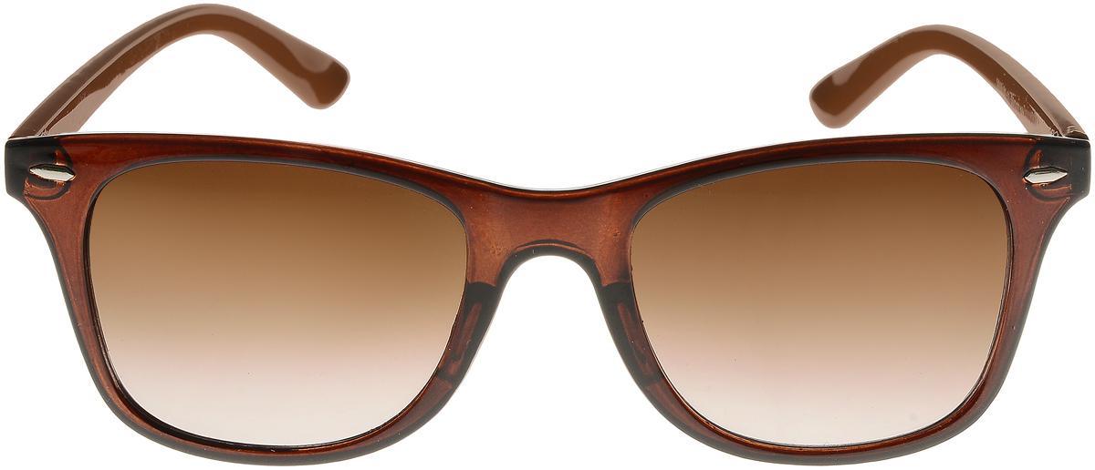 Очки солнцезащитные женские Vittorio Richi, цвет: коричневый. ОС5019с81-11/17fОС5019с81-11/17fСолнцезащитные очки Vittorio Richi выполнены из высококачественного пластика. Пластик используемый при изготовлении линз не искажает изображение, не подвержен нагреванию и вредному воздействию солнечных лучей. Оправа очков легкая, прилегающей формы и поэтому обеспечивает максимальный комфорт. Такие очки защитят глаза от ультрафиолетовых лучей, подчеркнут вашу индивидуальность и сделают ваш образ завершенным.