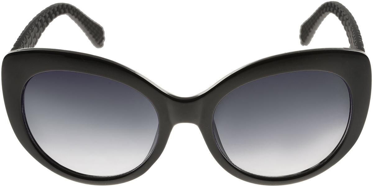 Очки солнцезащитные женские Vittorio Richi, цвет: черный. ОС5110с80-10/17fОС5110с80-10/17fСолнцезащитные очки Vittorio Richi выполнены из высококачественного пластика. Пластик используемый при изготовлении линз не искажает изображение, не подвержен нагреванию и вредному воздействию солнечных лучей. Оправа очков легкая, прилегающей формы и поэтому обеспечивает максимальный комфорт. Такие очки защитят глаза от ультрафиолетовых лучей, подчеркнут вашу индивидуальность и сделают ваш образ завершенным.