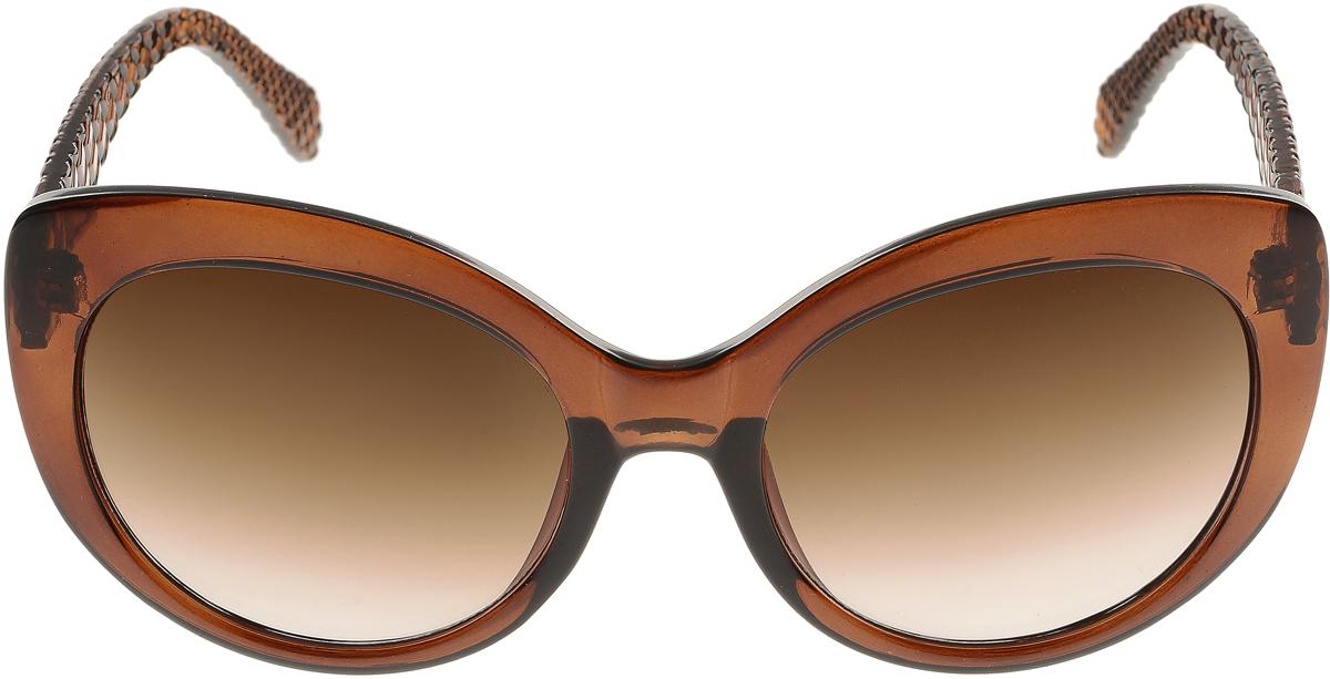 Очки солнцезащитные женские Vittorio Richi, цвет: коричневый. ОС5110с81-11/17fОС5110с81-11/17fЭлегантные солнцезащитные очки Vittorio Richi выполнены из высококачественного пластика. Пластик используемый при изготовлении линз не искажает изображение, не подвержен нагреванию и вредному воздействию солнечных лучей. Оправа очков легкая, прилегающей формы и поэтому обеспечивает максимальный комфорт. Такие очки защитят глаза от ультрафиолетовых лучей, подчеркнут вашу индивидуальность и сделают ваш образ завершенным.